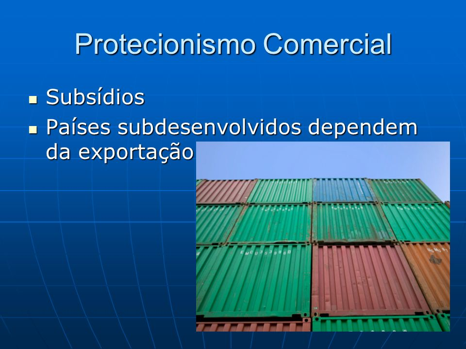 Protecionismo Comercial