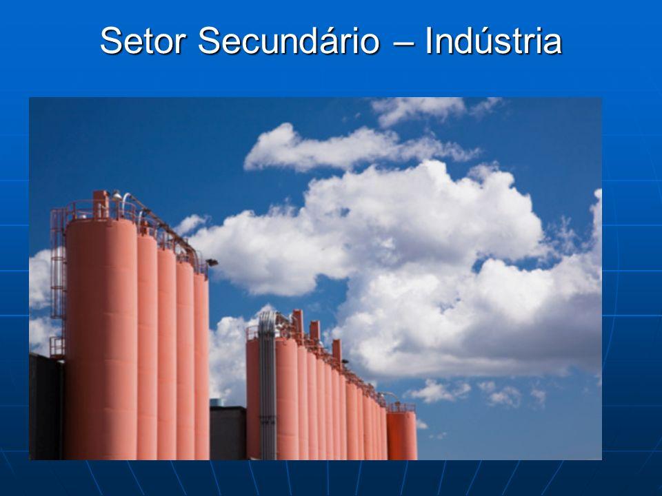 Setor Secundário – Indústria