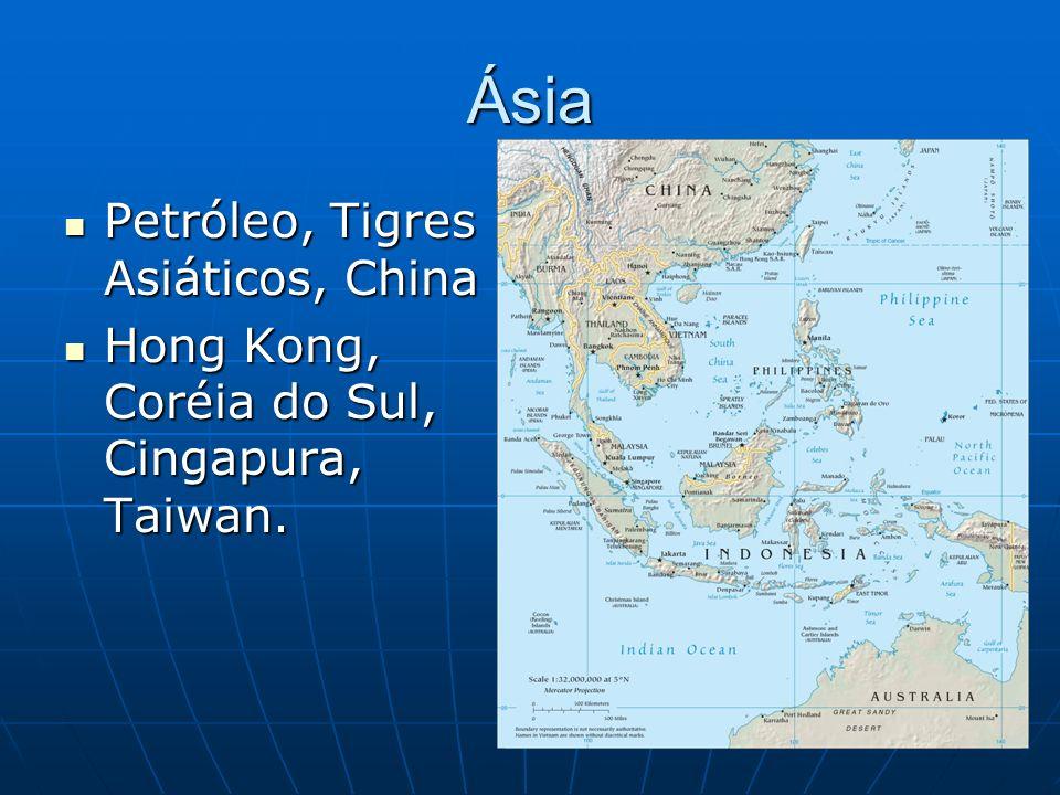 Ásia Petróleo, Tigres Asiáticos, China