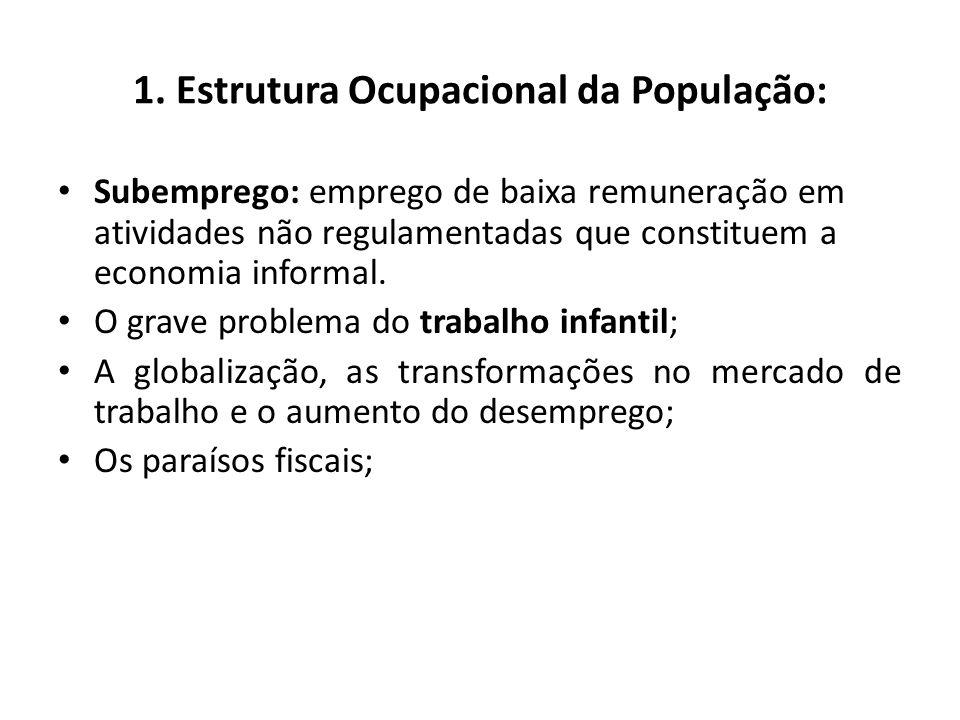 1. Estrutura Ocupacional da População: