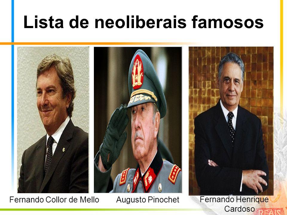 Lista de neoliberais famosos