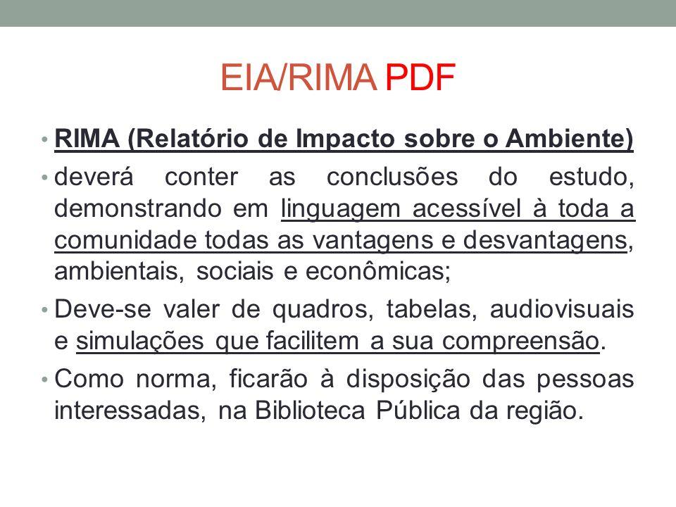 EIA/RIMA PDF RIMA (Relatório de Impacto sobre o Ambiente)