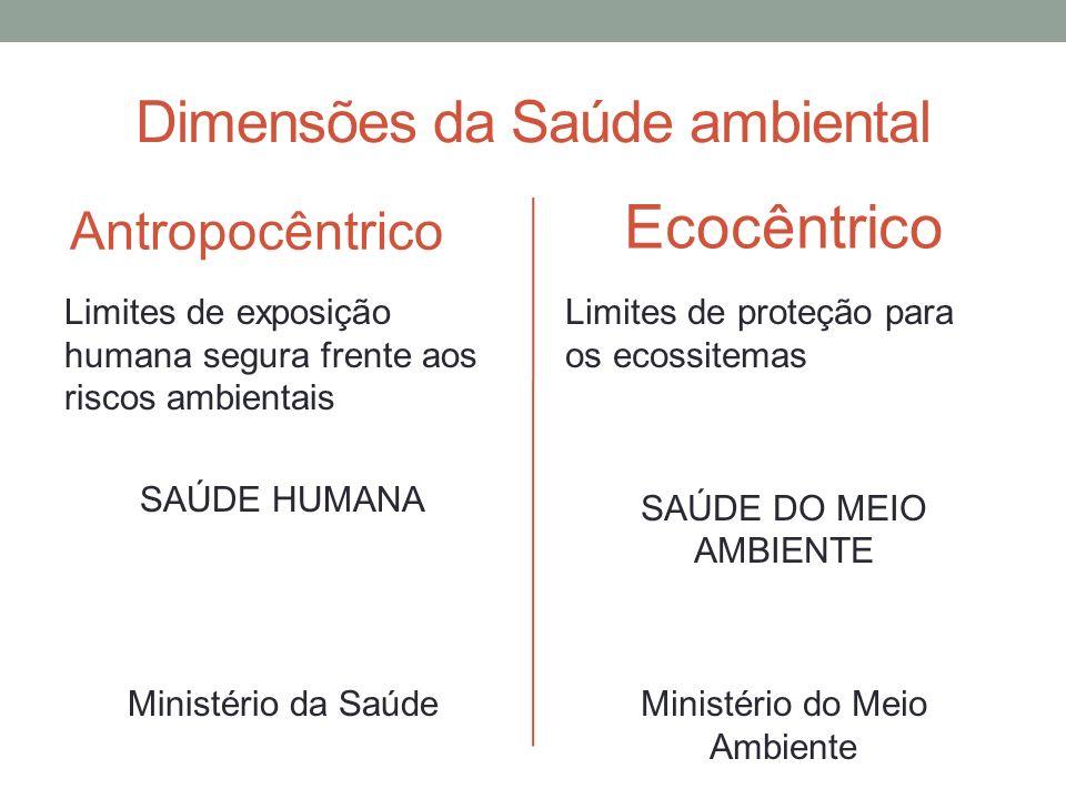 Dimensões da Saúde ambiental