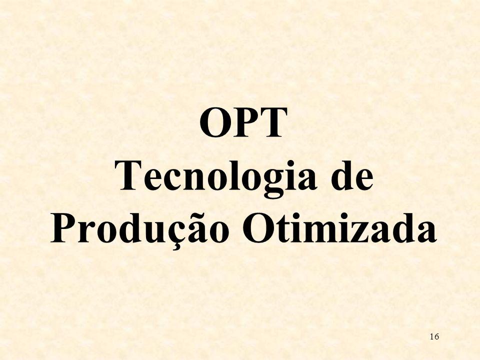 OPT Tecnologia de Produção Otimizada