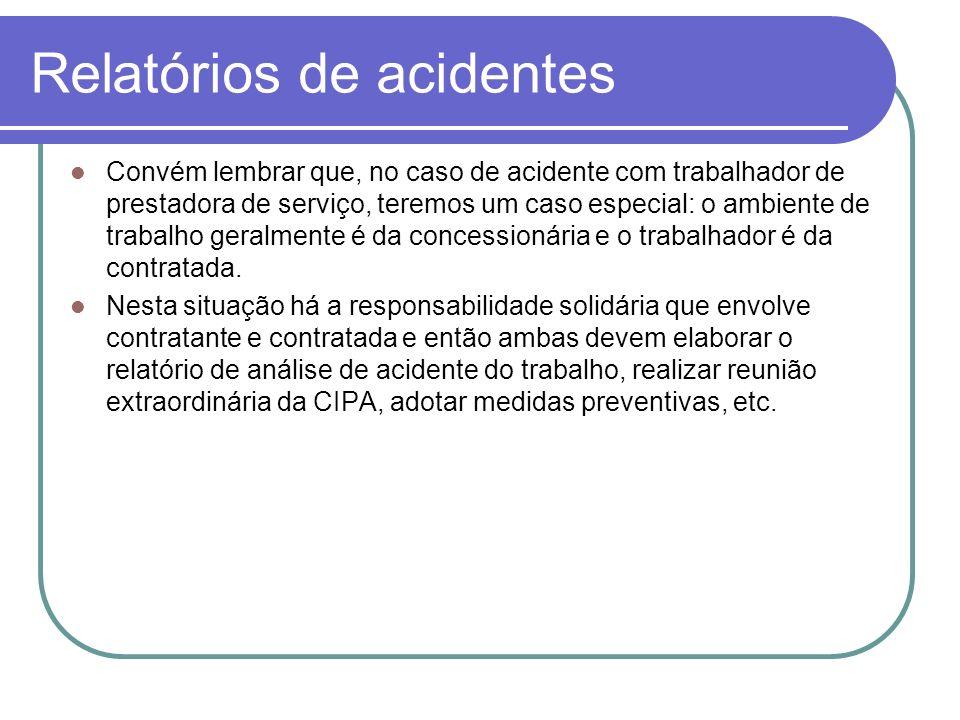 Relatórios de acidentes