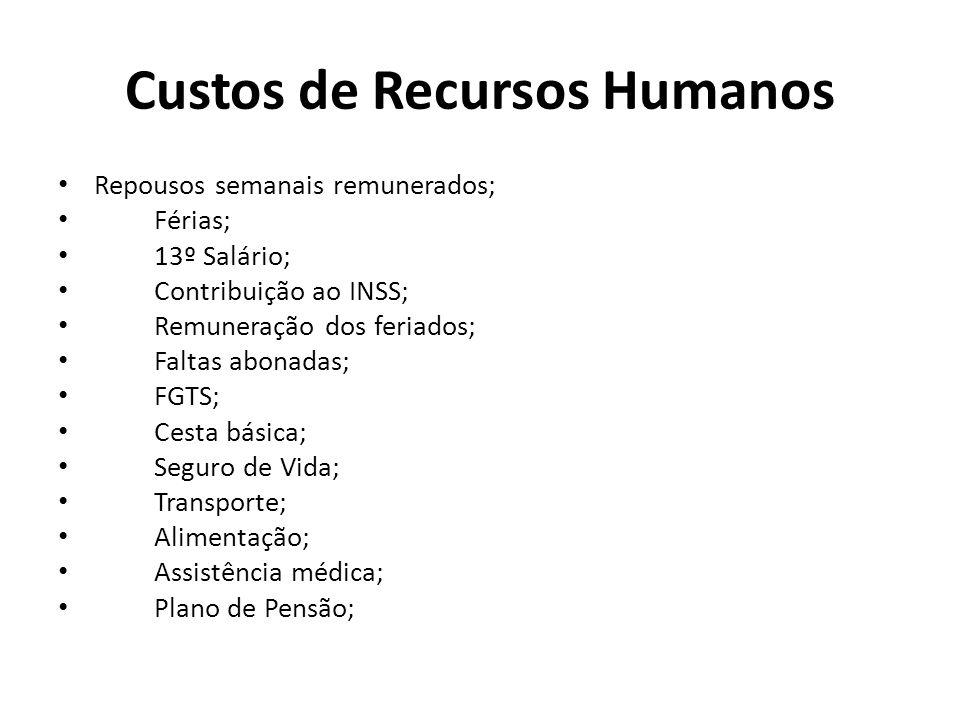 Custos de Recursos Humanos