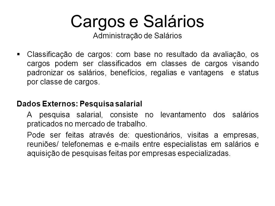 Cargos e Salários Administração de Salários