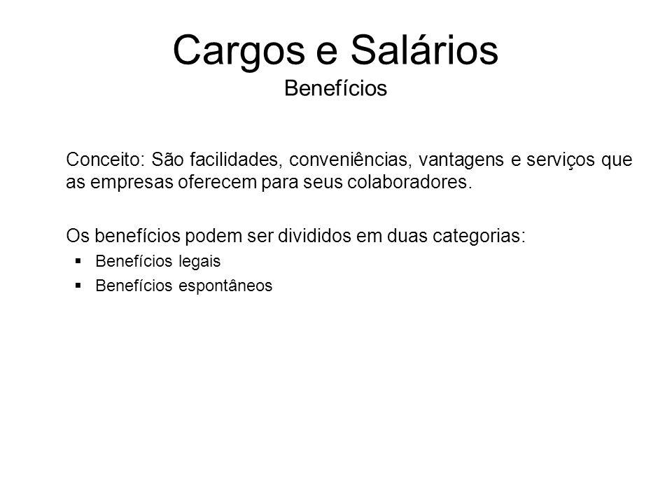 Cargos e Salários Benefícios