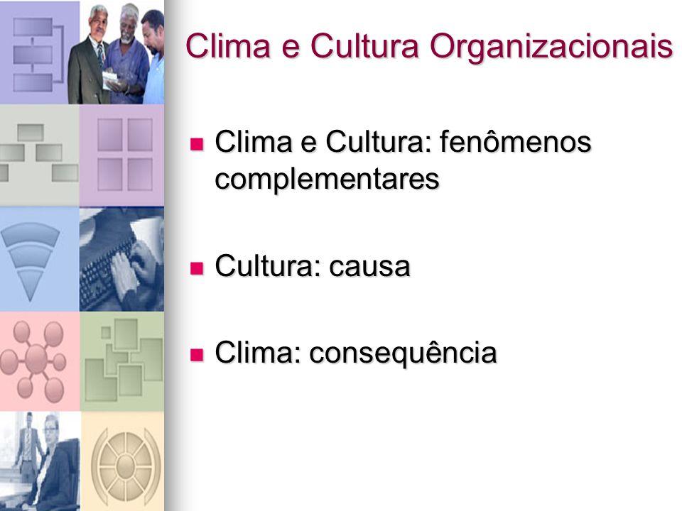 Clima e Cultura Organizacionais