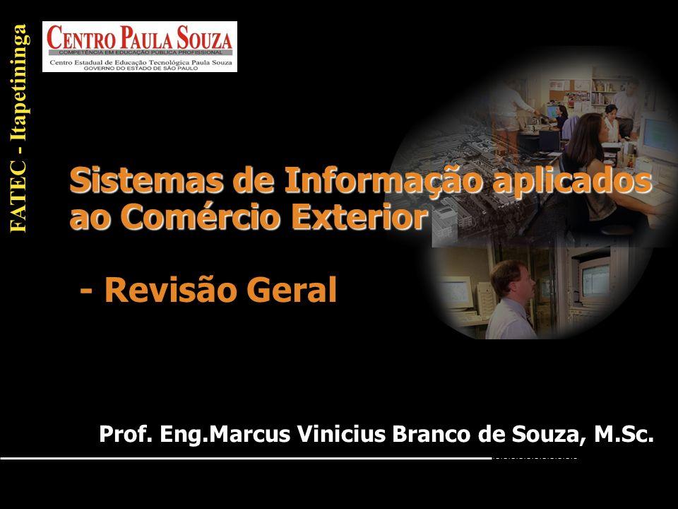 Sistemas de Informação aplicados ao Comércio Exterior - Revisão Geral