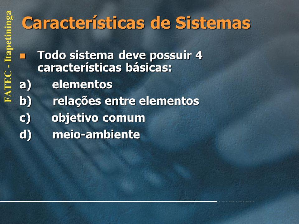 Características de Sistemas