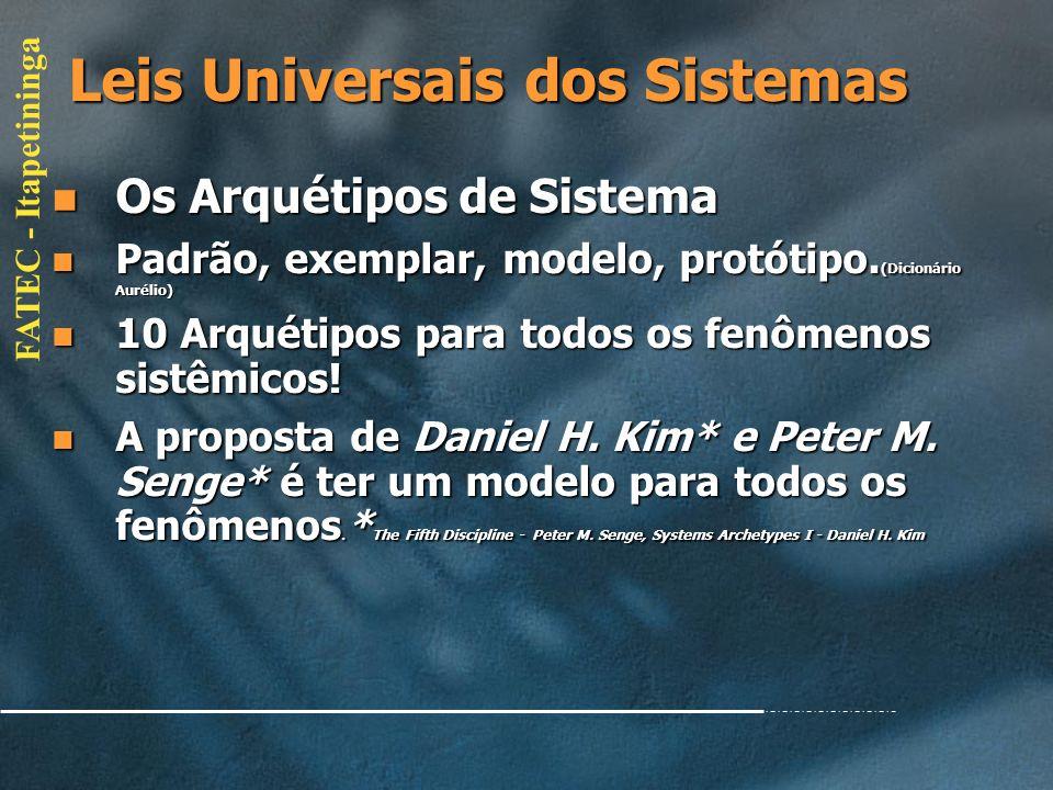 Leis Universais dos Sistemas