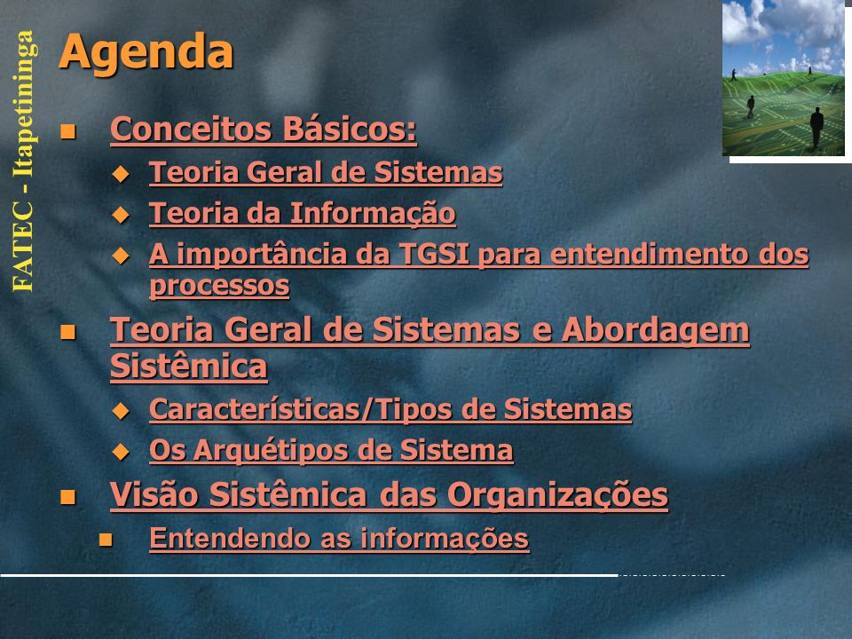 Agenda Conceitos Básicos: