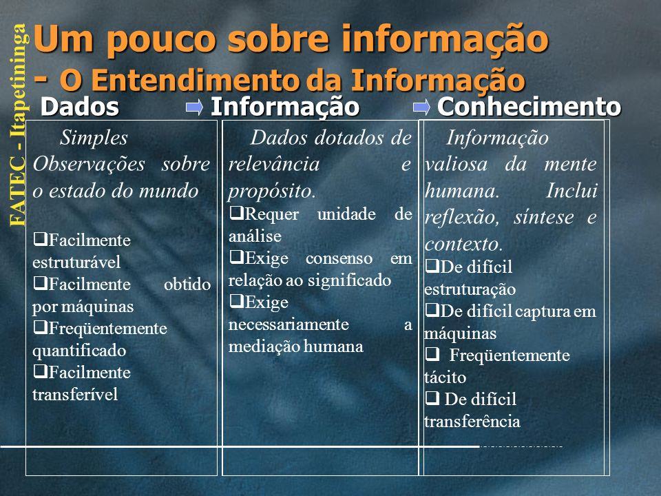 Um pouco sobre informação - O Entendimento da Informação