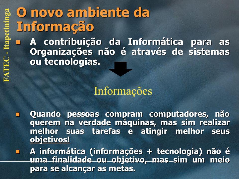 O novo ambiente da Informação