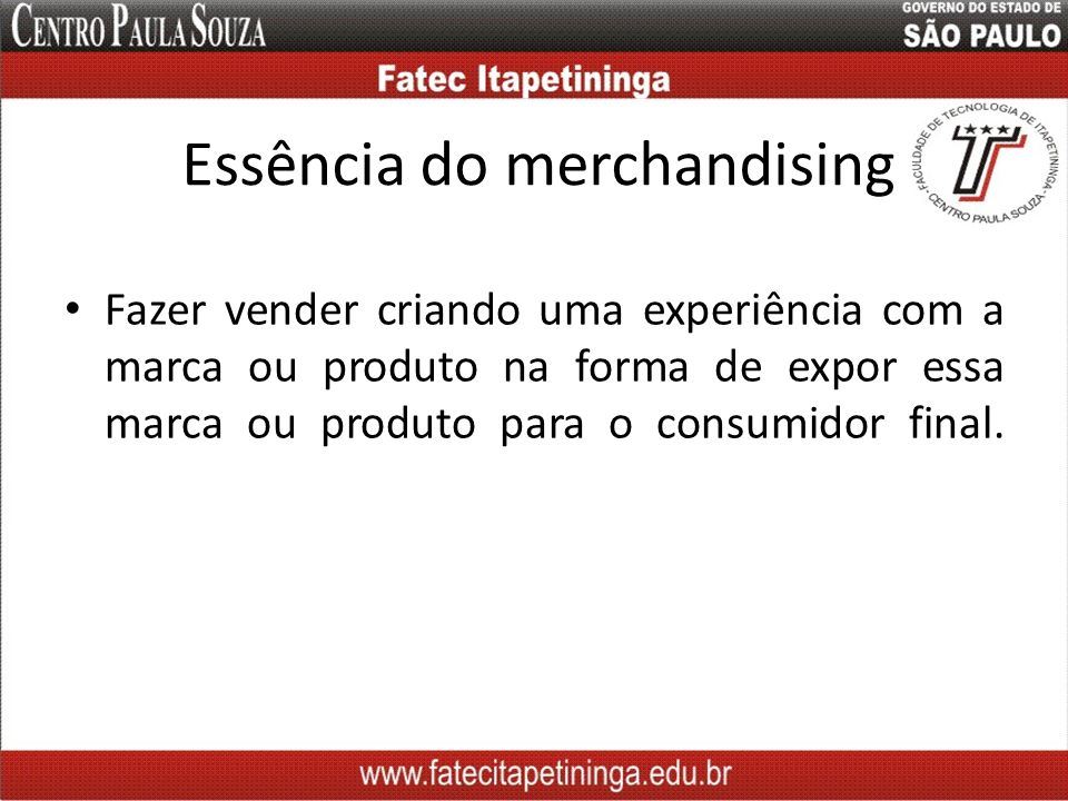 Essência do merchandising