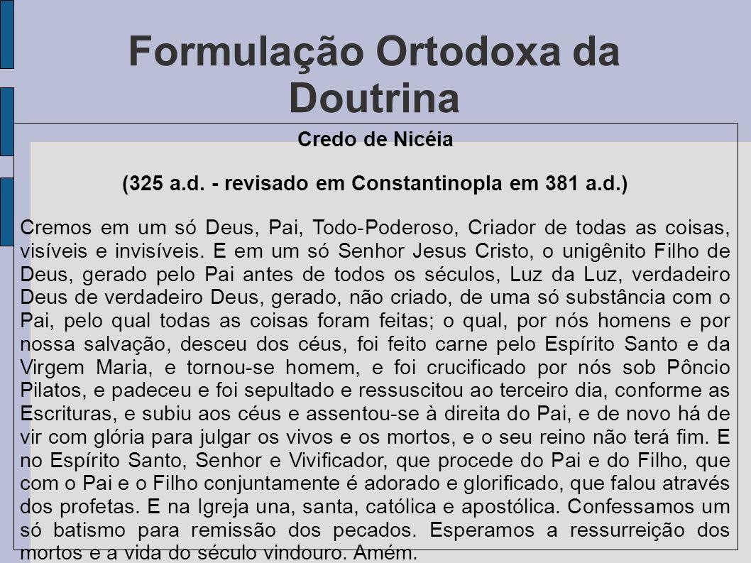 Formulação Ortodoxa da Doutrina