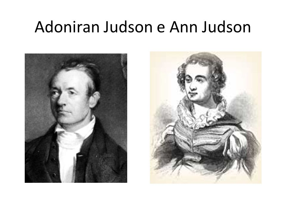 Adoniran Judson e Ann Judson