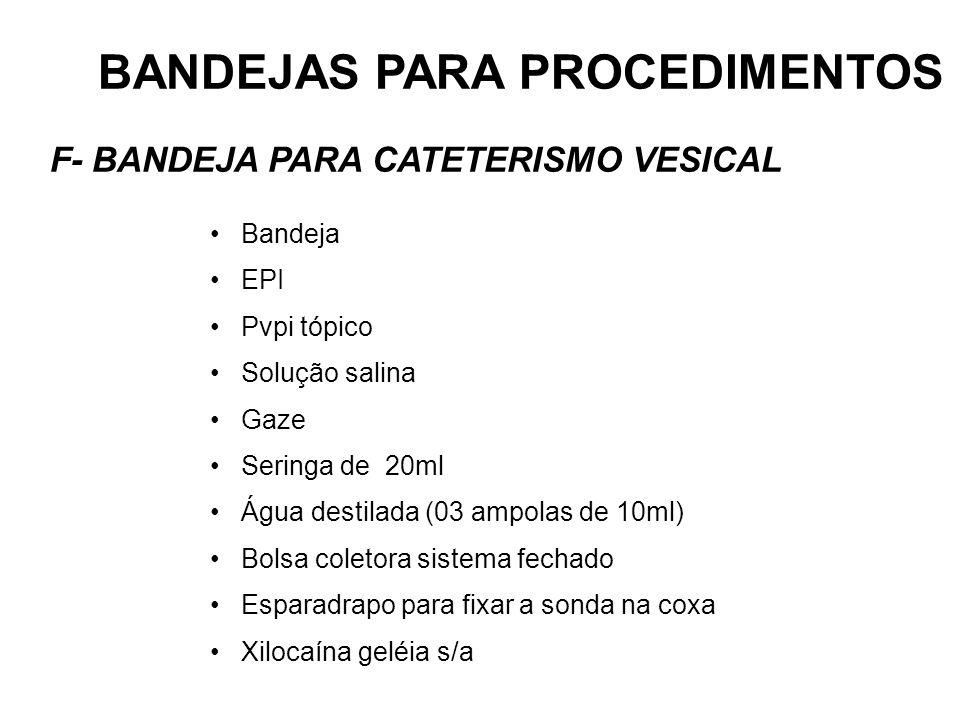 BANDEJAS PARA PROCEDIMENTOS