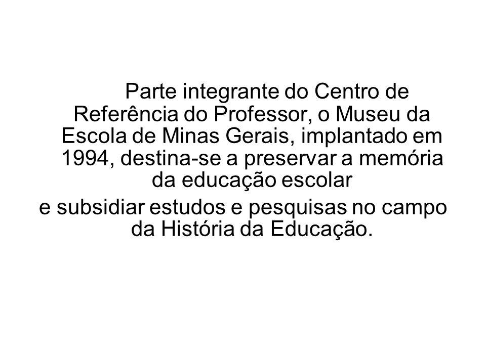 e subsidiar estudos e pesquisas no campo da História da Educação.