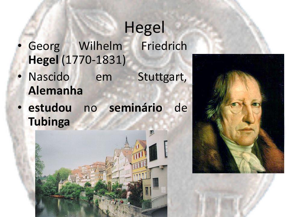 Hegel Georg Wilhelm Friedrich Hegel (1770-1831)