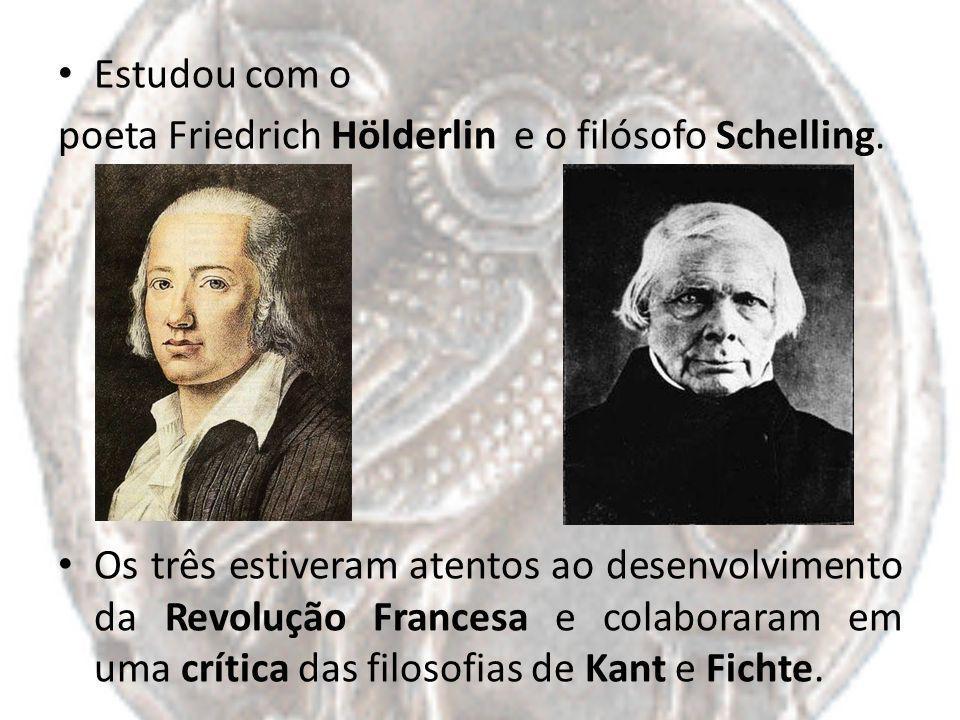 Estudou com o poeta Friedrich Hölderlin e o filósofo Schelling.