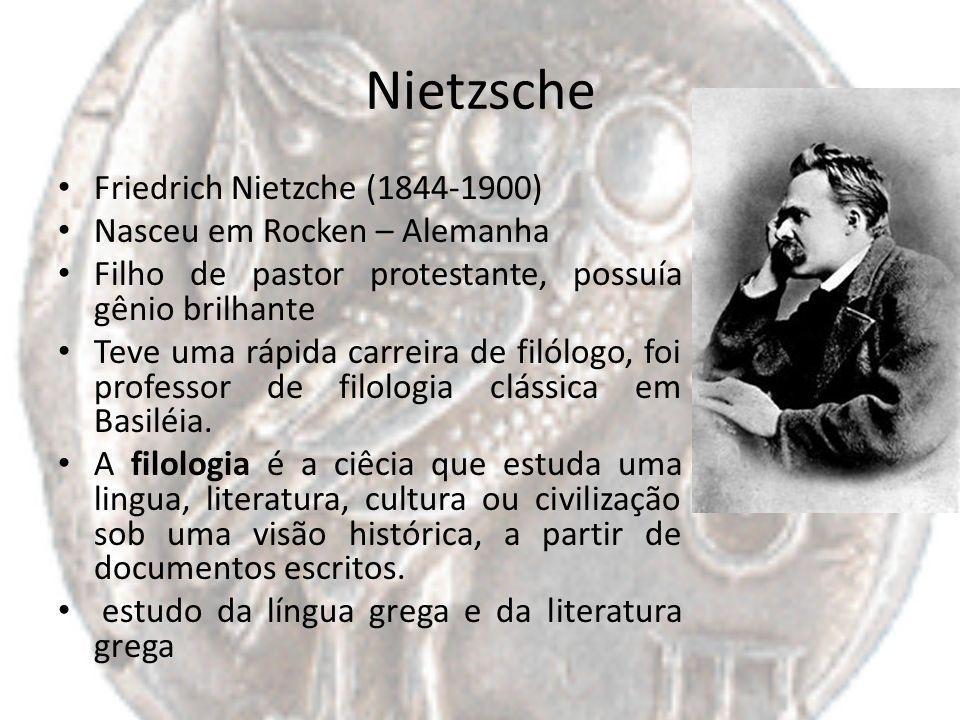 Nietzsche Friedrich Nietzche (1844-1900) Nasceu em Rocken – Alemanha