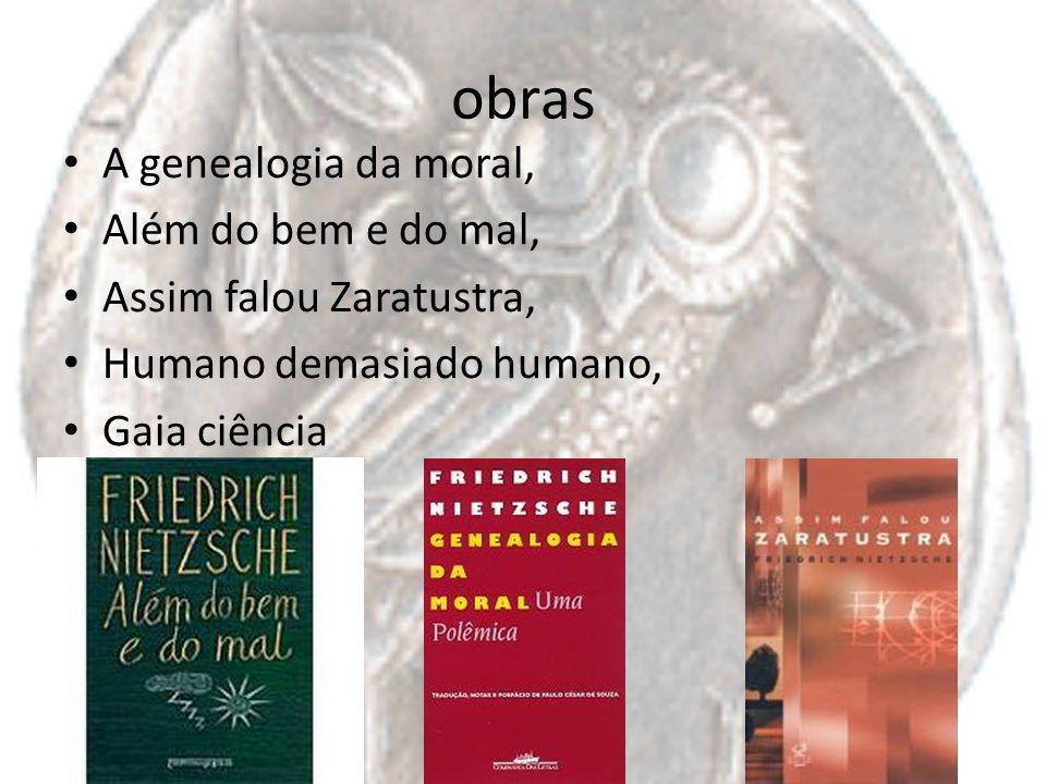 obras A genealogia da moral, Além do bem e do mal,