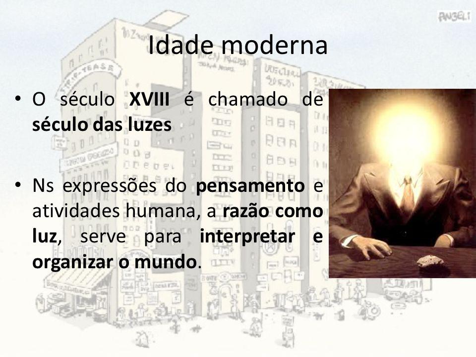 Idade moderna O século XVIII é chamado de século das luzes