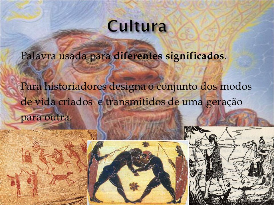 Cultura Palavra usada para diferentes significados.