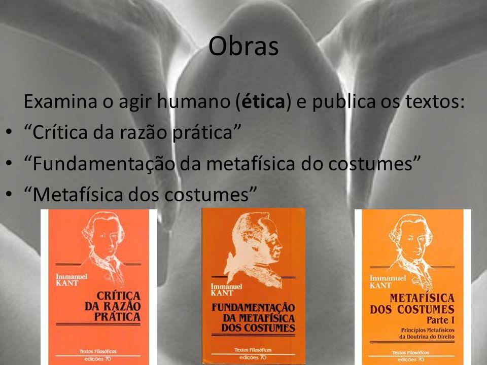 Obras Examina o agir humano (ética) e publica os textos: