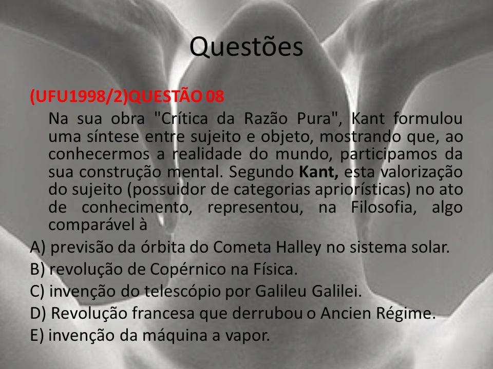 Questões (UFU1998/2)QUESTÃO 08