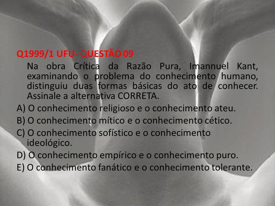 Q1999/1 UFU- QUESTÃO 09