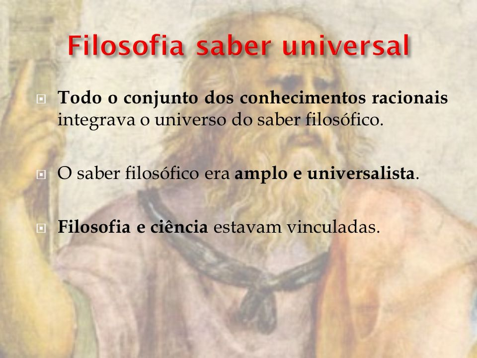 Filosofia saber universal