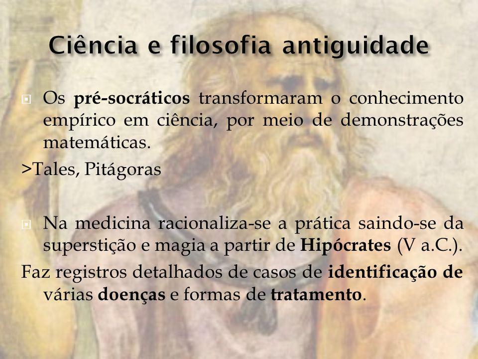 Ciência e filosofia antiguidade