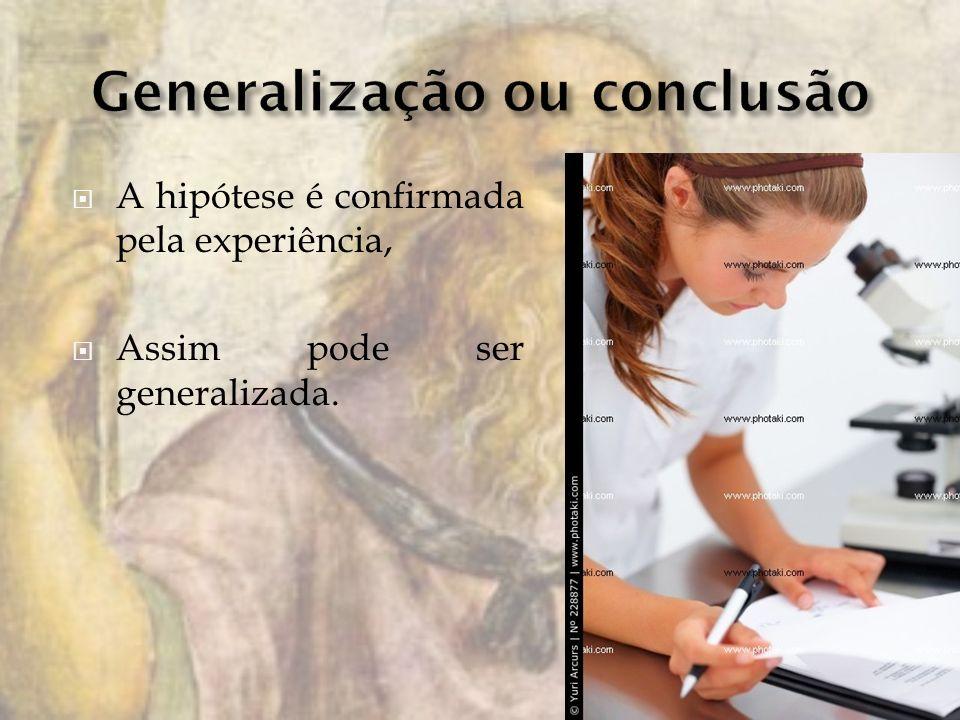 Generalização ou conclusão