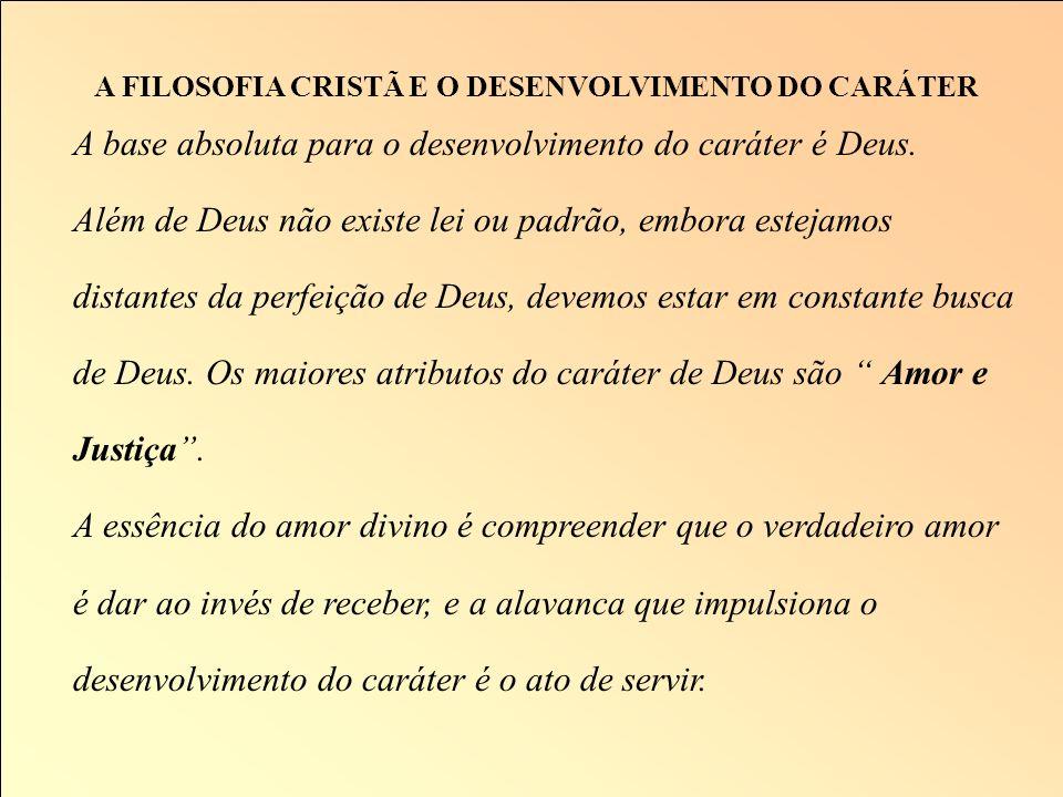 A FILOSOFIA CRISTÃ E O DESENVOLVIMENTO DO CARÁTER