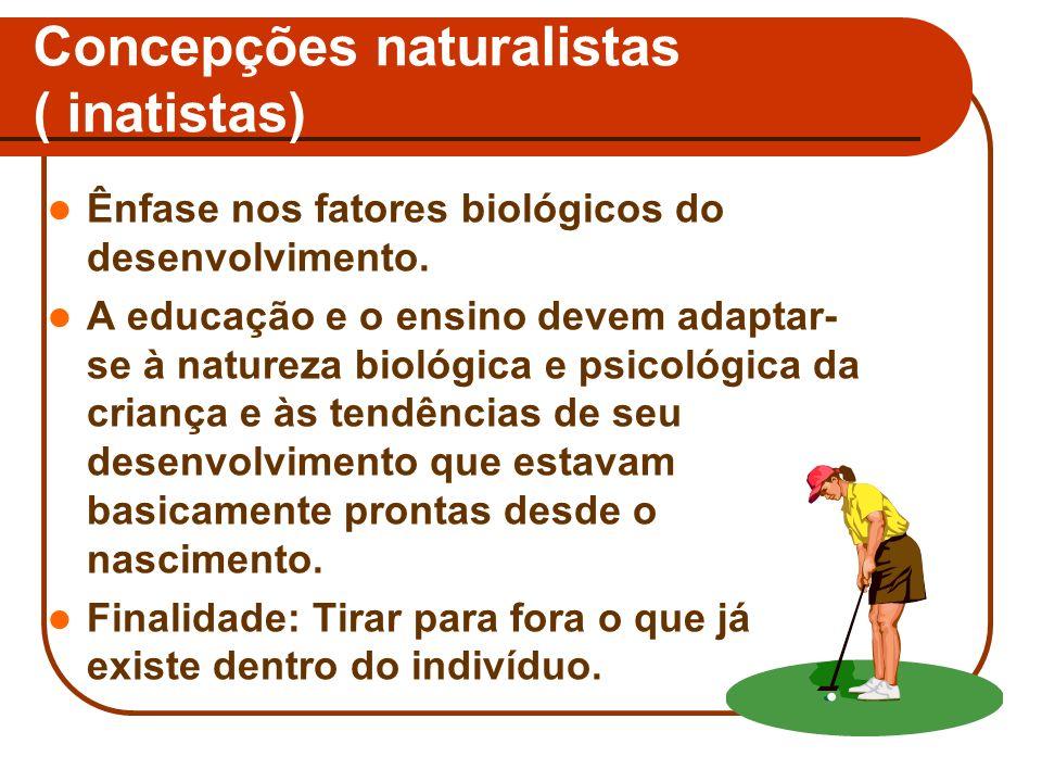 Concepções naturalistas ( inatistas)