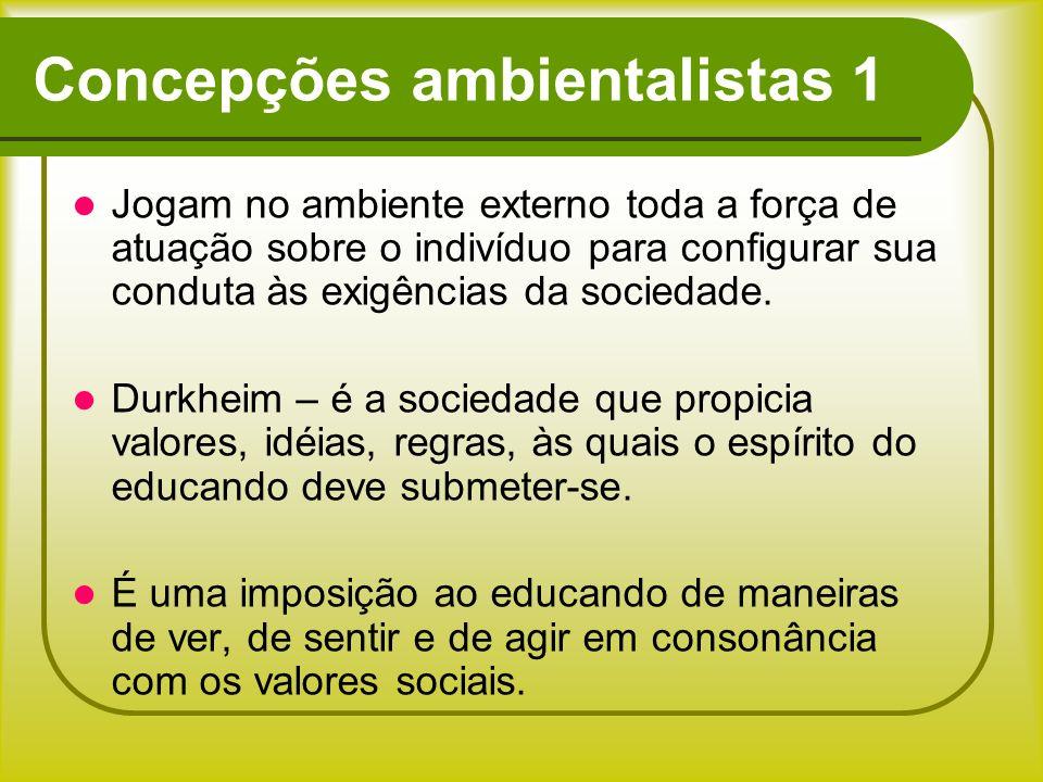Concepções ambientalistas 1