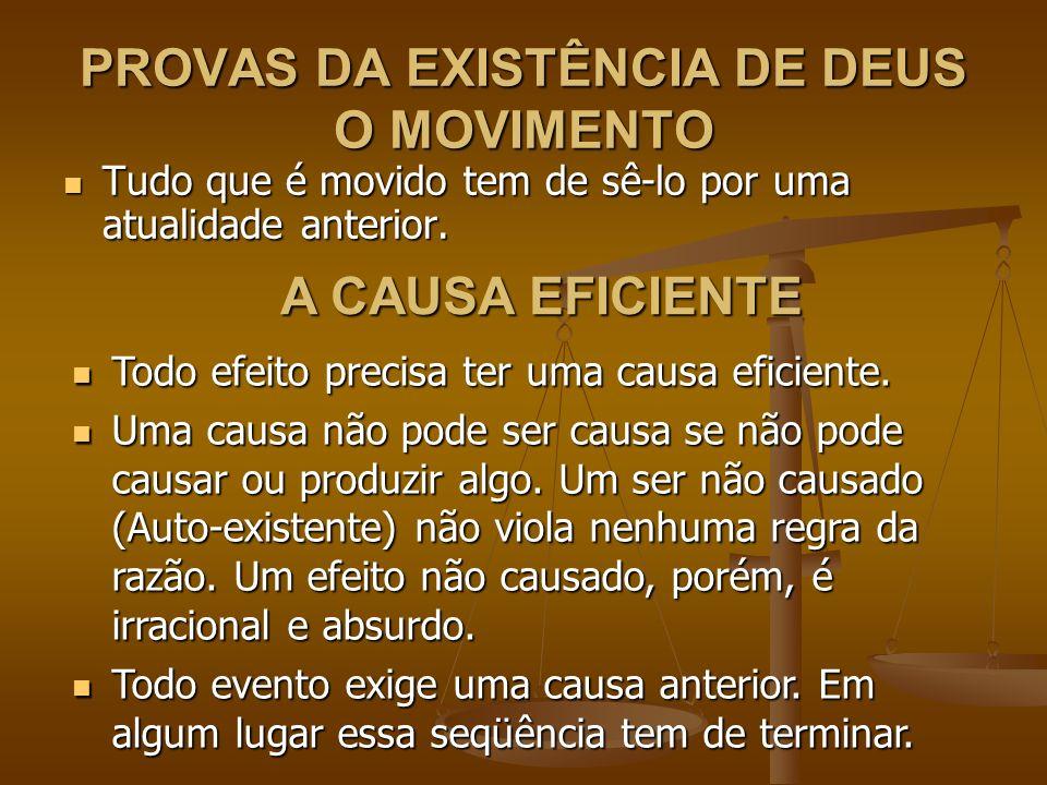 PROVAS DA EXISTÊNCIA DE DEUS O MOVIMENTO