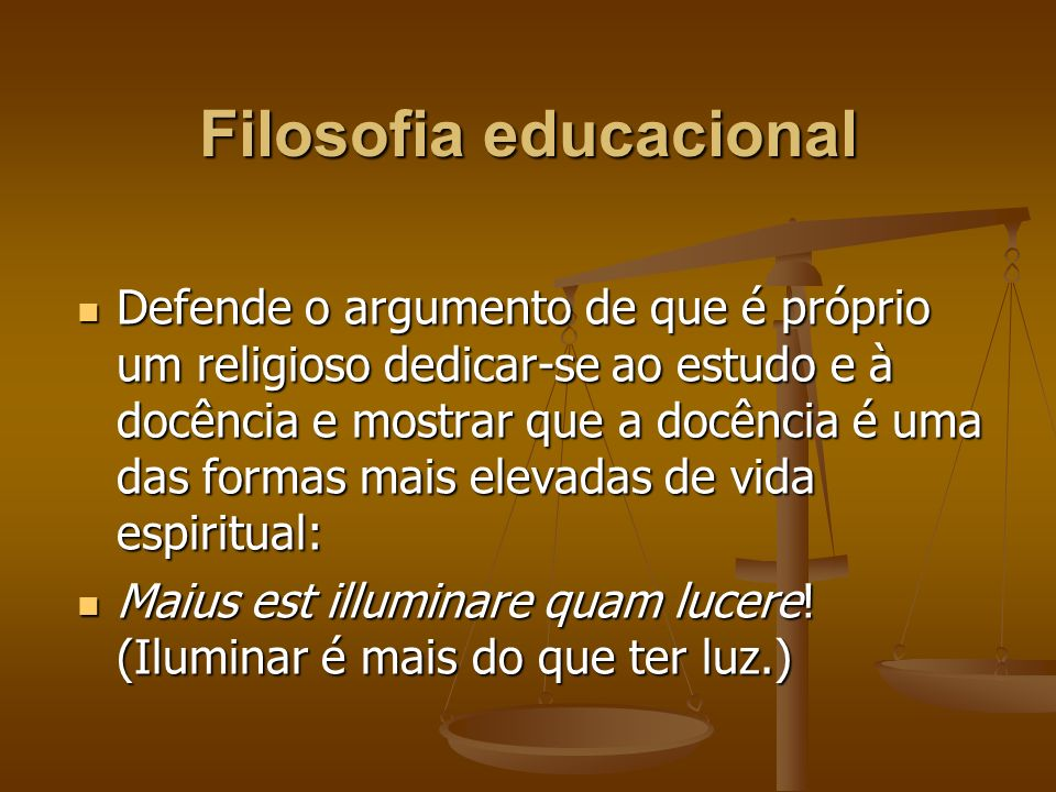 Filosofia educacional