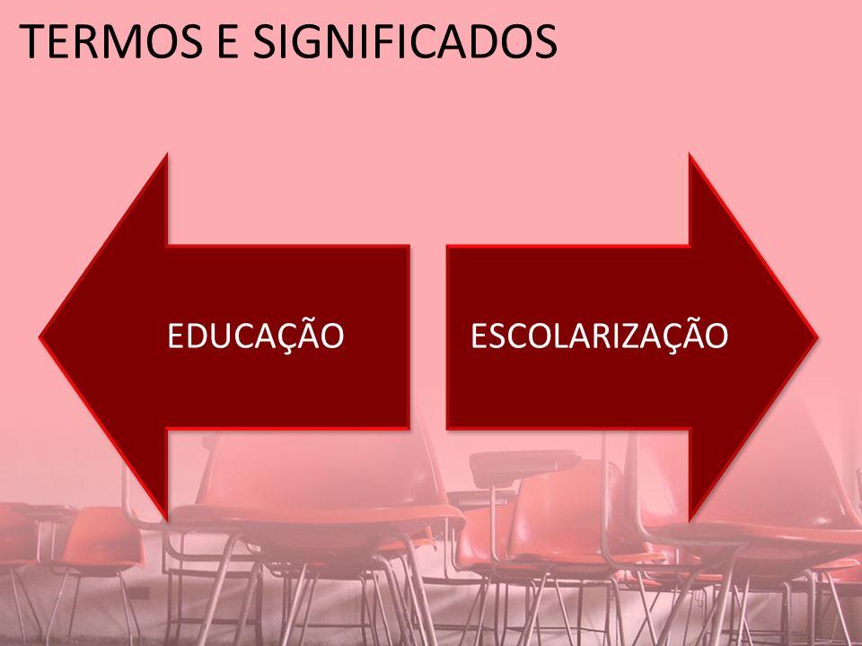 TERMOS E SIGNIFICADOS EDUCAÇÃO ESCOLARIZAÇÃO