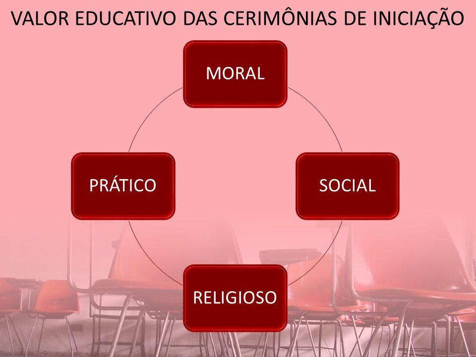 VALOR EDUCATIVO DAS CERIMÔNIAS DE INICIAÇÃO