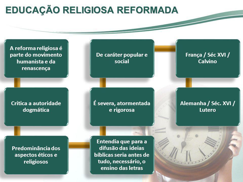 EDUCAÇÃO RELIGIOSA REFORMADA