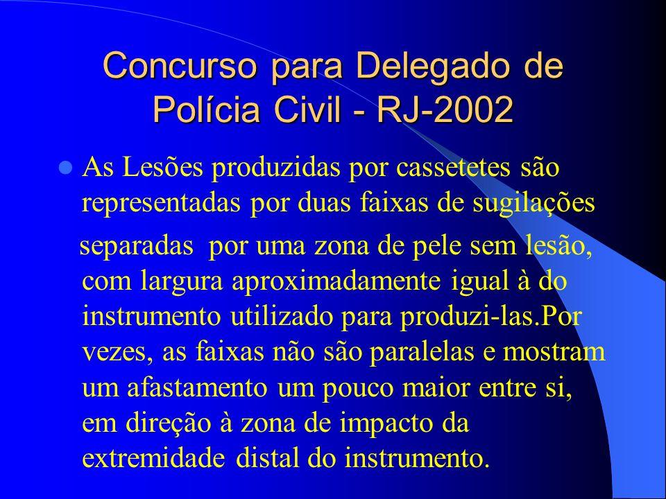 Concurso para Delegado de Polícia Civil - RJ-2002