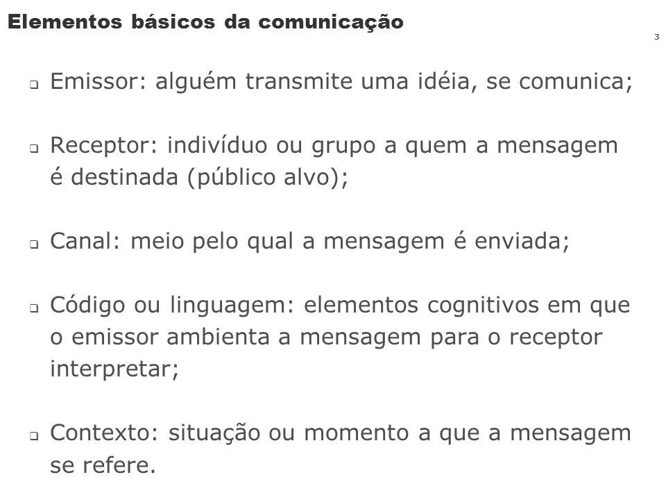 Elementos básicos da comunicação