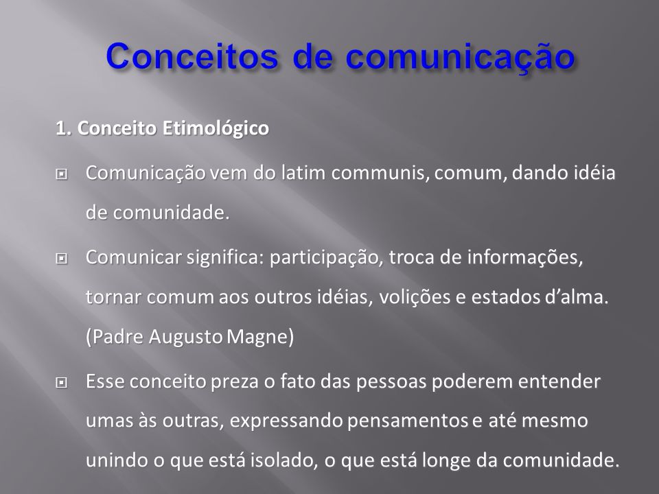 Conceitos de comunicação
