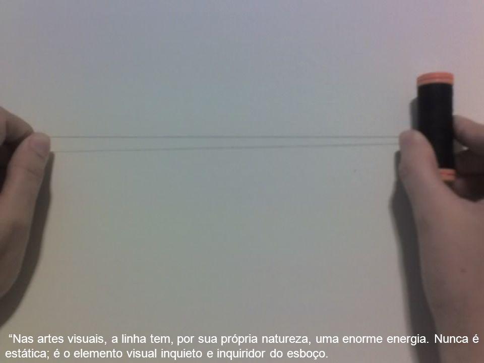 Nas artes visuais, a linha tem, por sua própria natureza, uma enorme energia.
