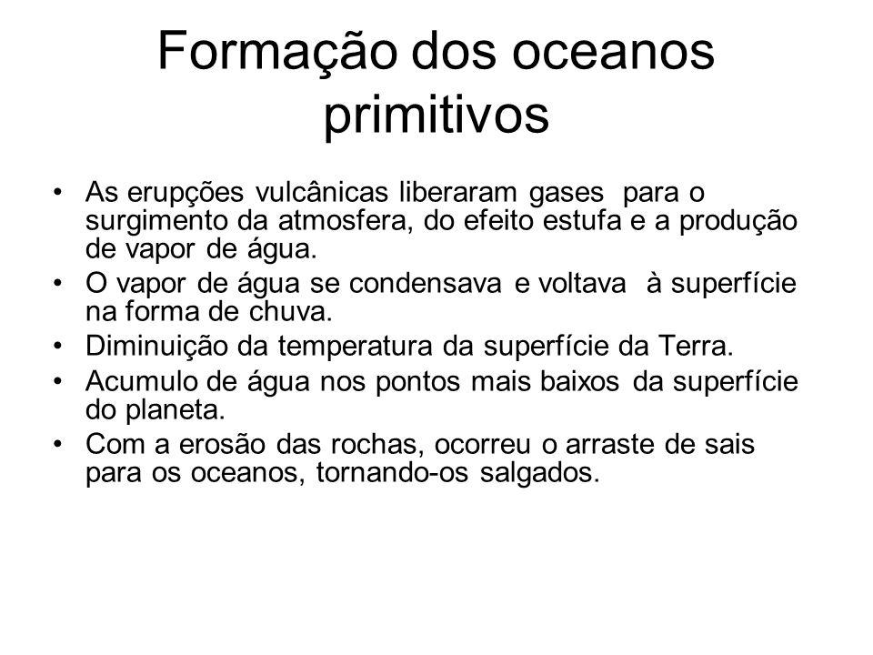 Formação dos oceanos primitivos