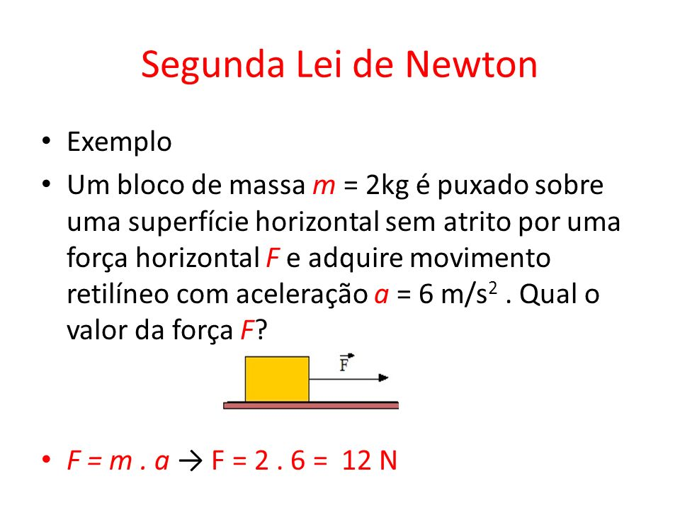 Segunda Lei de Newton Exemplo